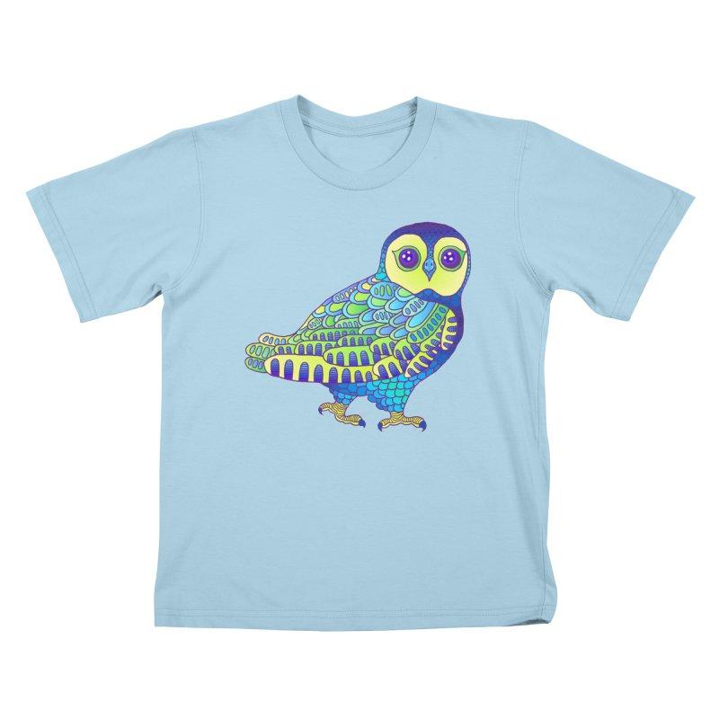 Owl Kids T-Shirt by ShadoBado Artist Shop