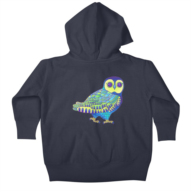 Owl Kids Baby Zip-Up Hoody by ShadoBado Artist Shop