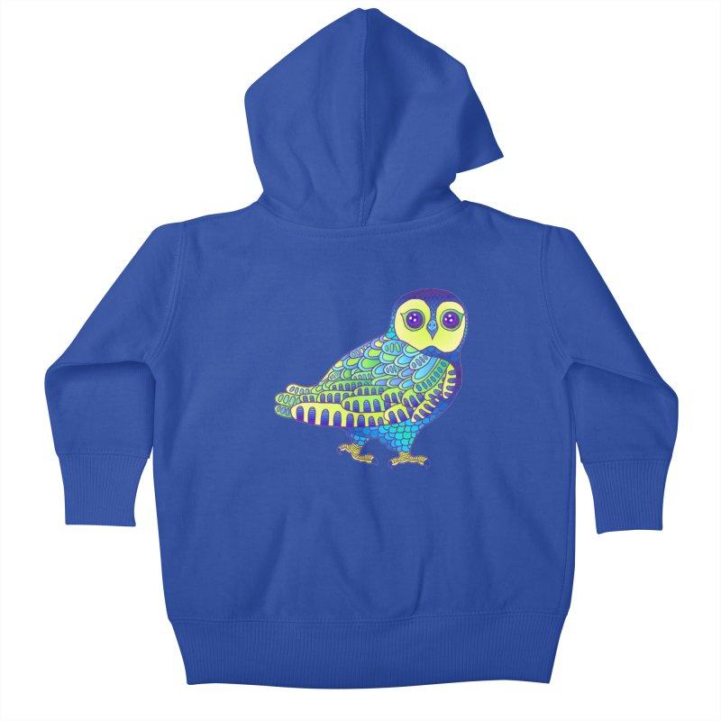 Owl Kids Baby Zip-Up Hoody by ShadoBado Artist Shop