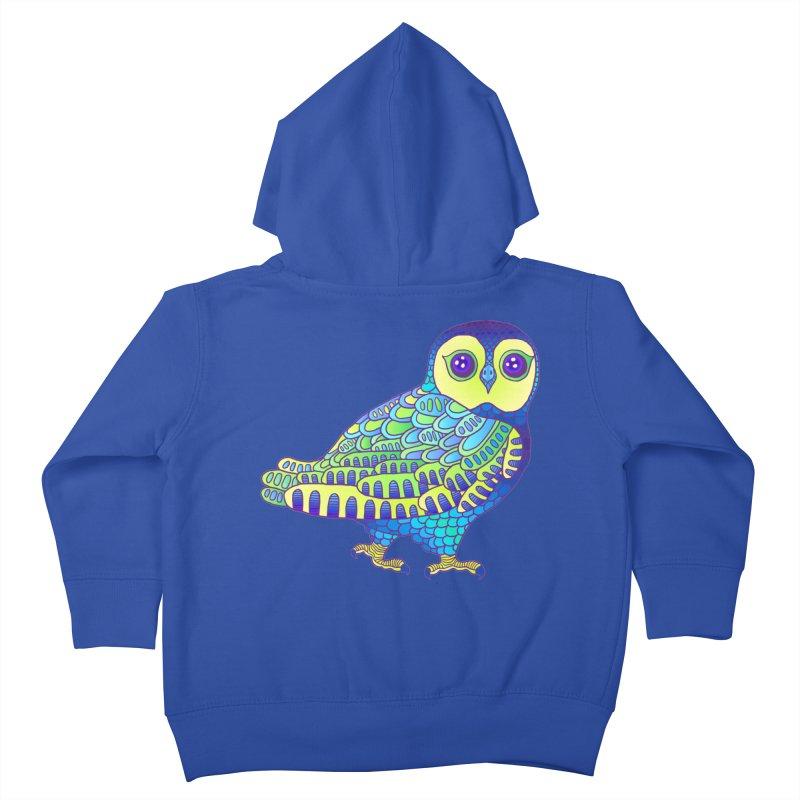 Owl Kids Toddler Zip-Up Hoody by ShadoBado Artist Shop
