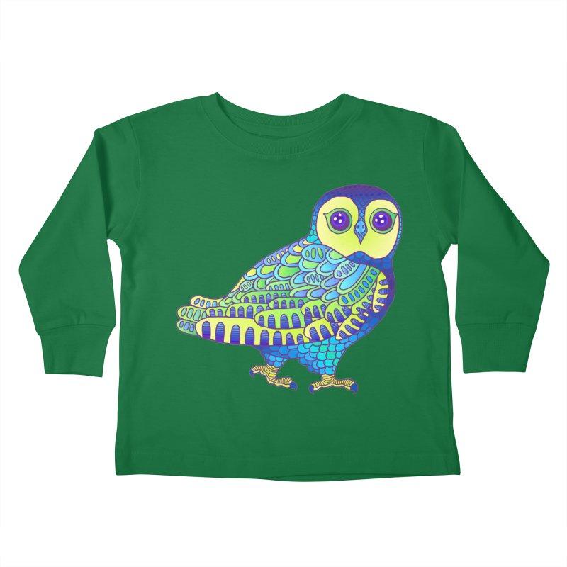 Owl Kids Toddler Longsleeve T-Shirt by ShadoBado Artist Shop