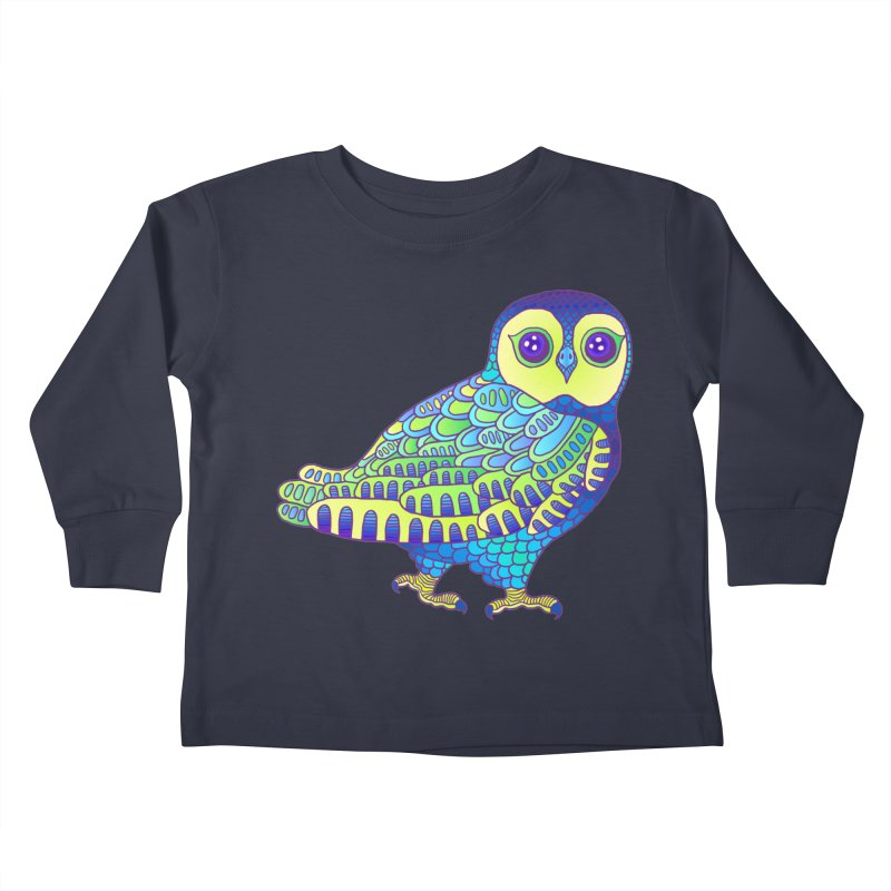 Owl Kids Toddler Longsleeve T-Shirt by ShadoBado Artist Shop