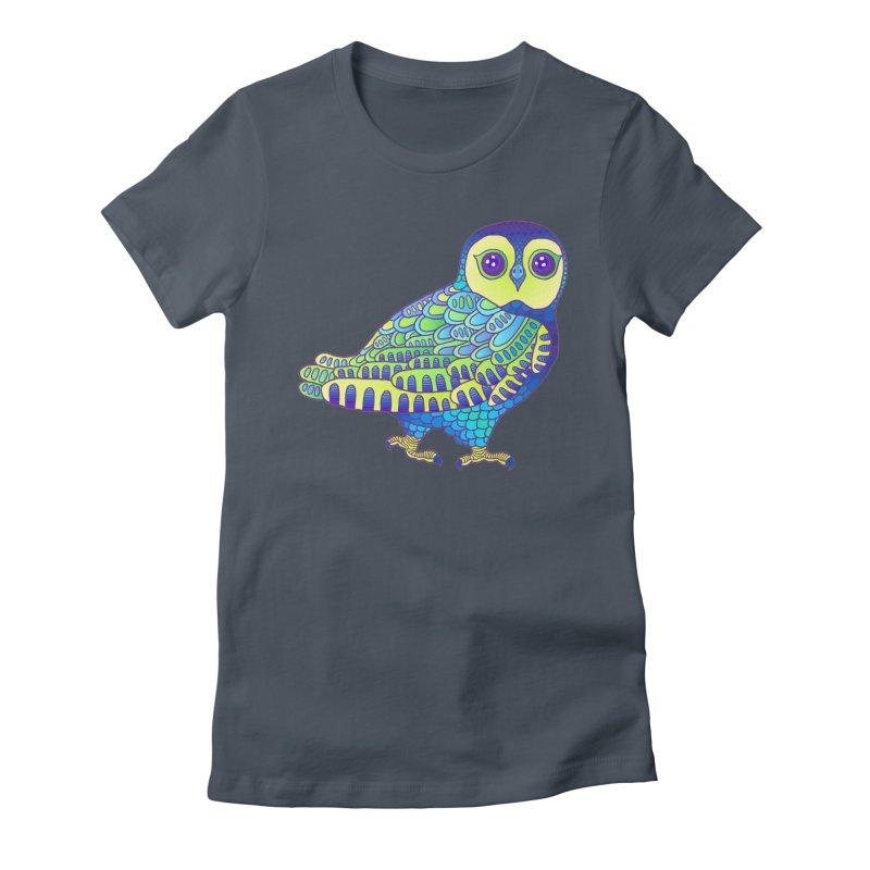 Owl Women's T-Shirt by ShadoBado Artist Shop