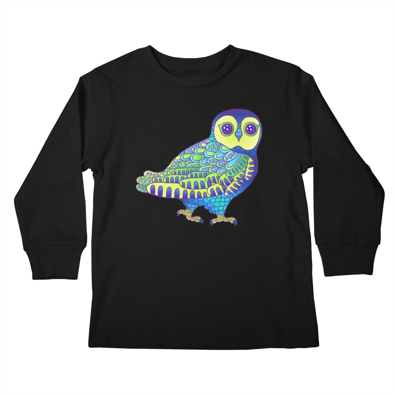 Owl Kids Longsleeve T-Shirt by ShadoBado Artist Shop
