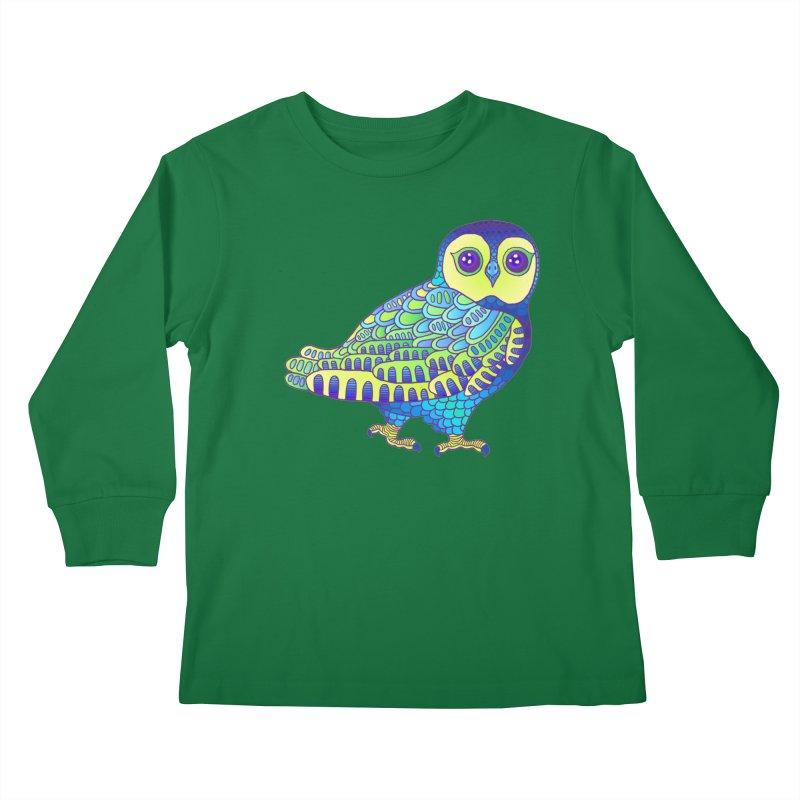 Owl Kids Longsleeve T-Shirt by ShadoBado Artist Shop