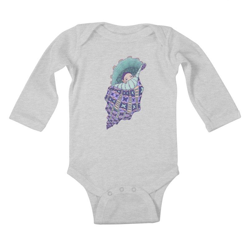 In my shell Kids Baby Longsleeve Bodysuit by ShadoBado Artist Shop