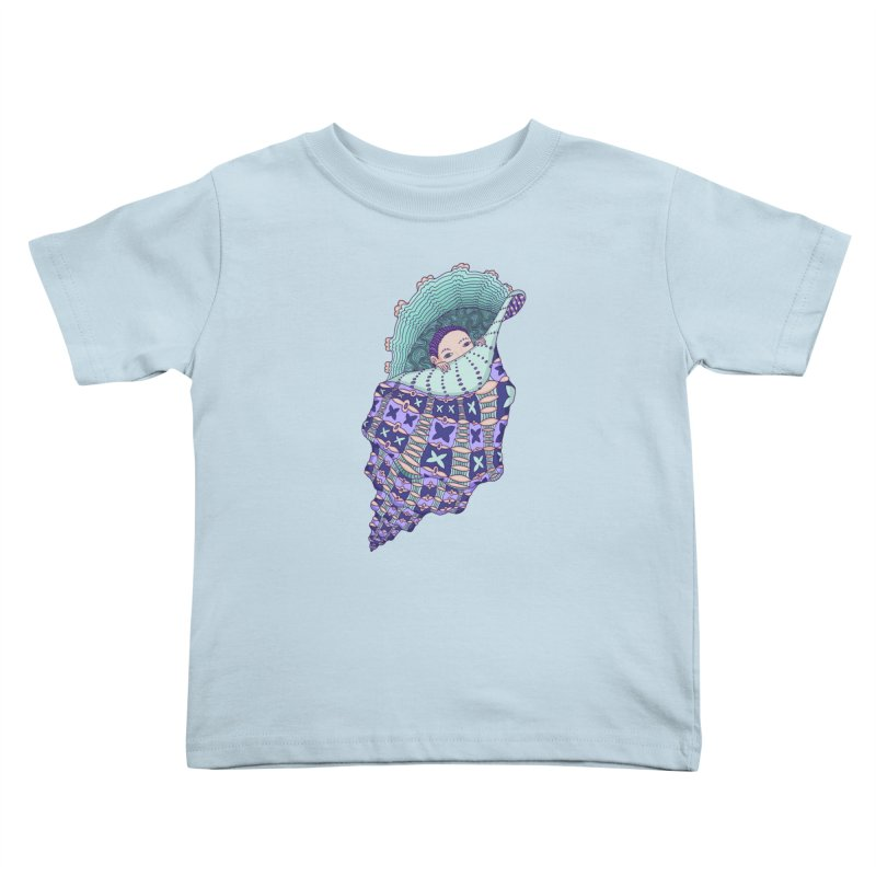 In my shell Kids Toddler T-Shirt by ShadoBado Artist Shop