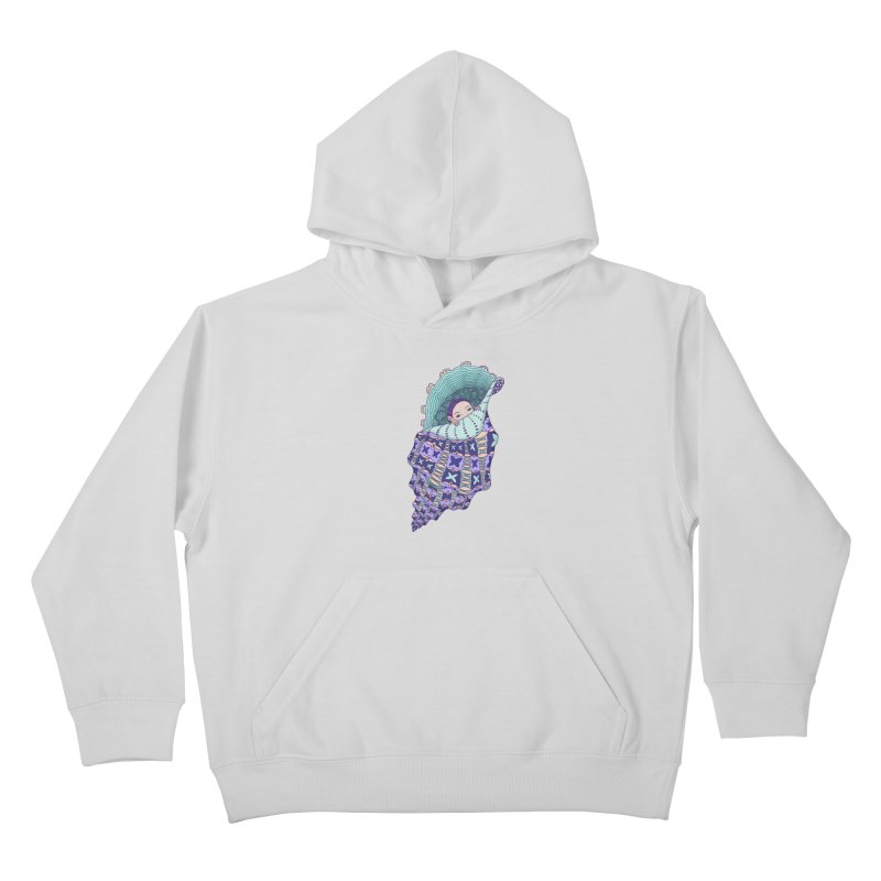 In my shell Kids Pullover Hoody by ShadoBado Artist Shop