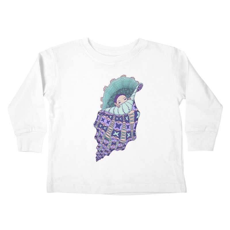 In my shell Kids Toddler Longsleeve T-Shirt by ShadoBado Artist Shop