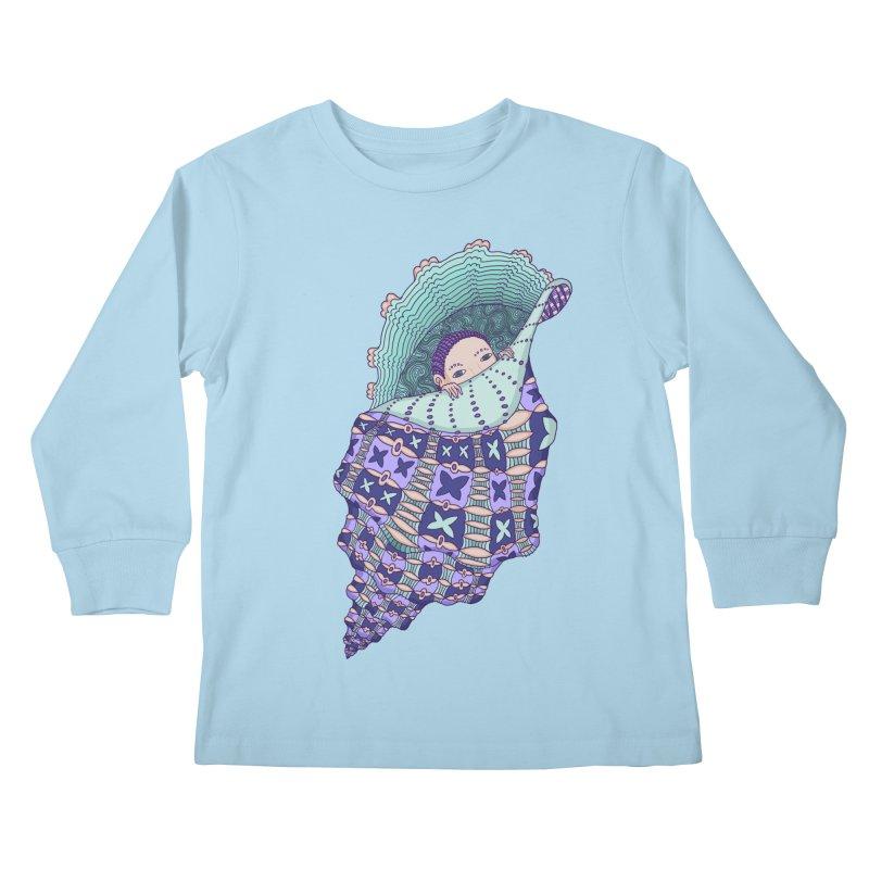 In my shell Kids Longsleeve T-Shirt by ShadoBado Artist Shop