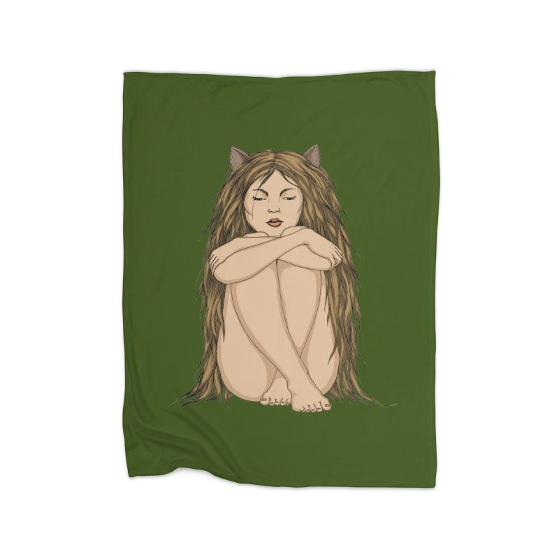 Cat Home Blanket by ShadoBado Artist Shop