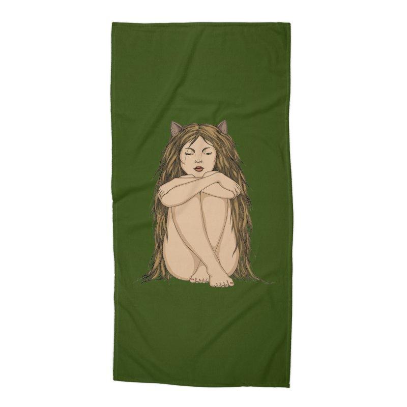 Cat Accessories Beach Towel by ShadoBado Artist Shop