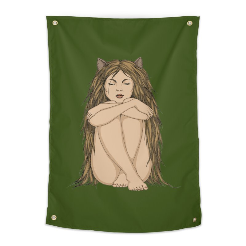 Cat Home Tapestry by ShadoBado Artist Shop