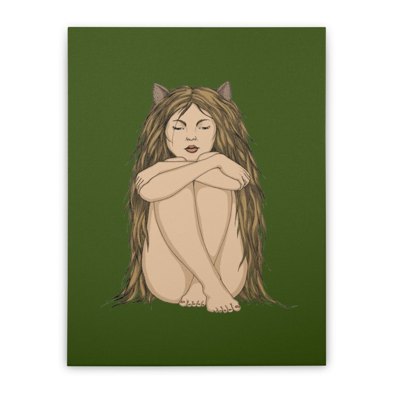 Cat Home Stretched Canvas by ShadoBado Artist Shop
