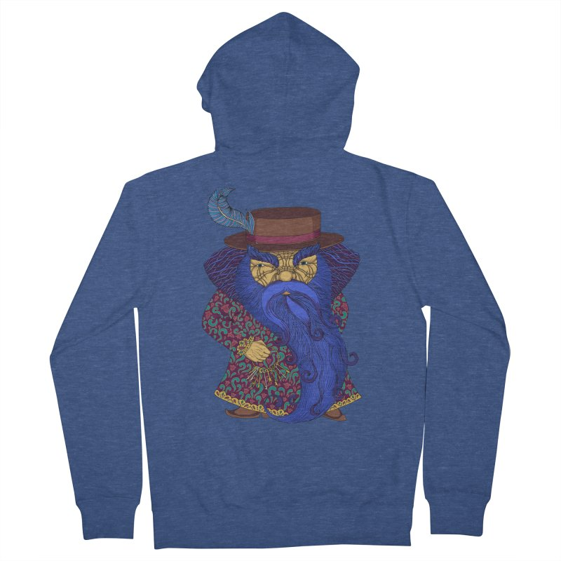 Blue beard Men's French Terry Zip-Up Hoody by ShadoBado Artist Shop
