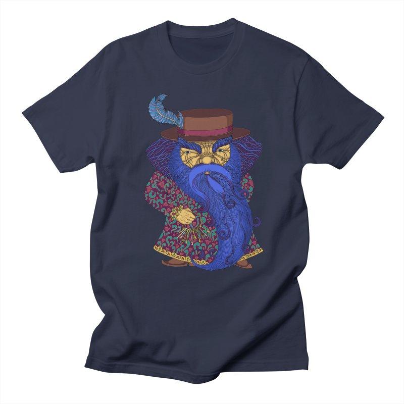 Blue beard Men's Regular T-Shirt by ShadoBado Artist Shop