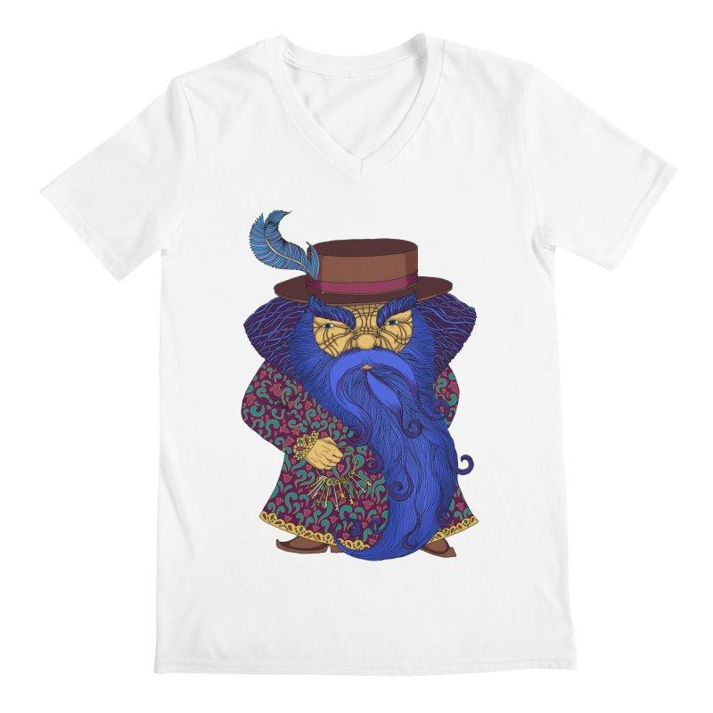 Blue beard Men's Regular V-Neck by ShadoBado Artist Shop