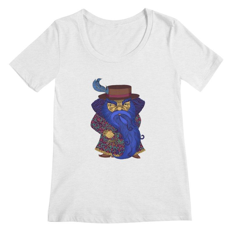 Blue beard Women's Regular Scoop Neck by ShadoBado Artist Shop