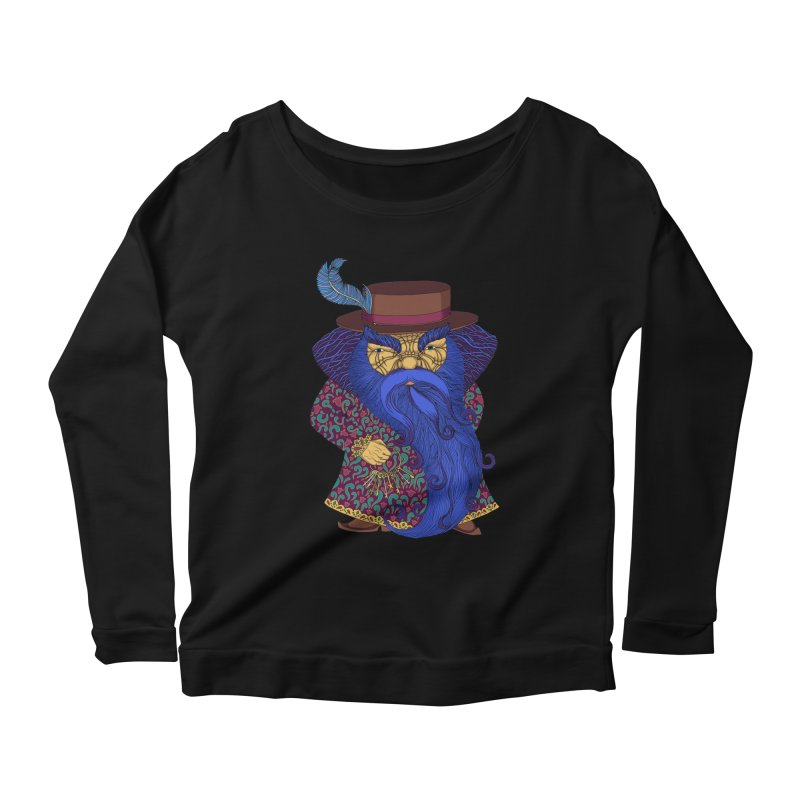 Blue beard Women's Scoop Neck Longsleeve T-Shirt by ShadoBado Artist Shop