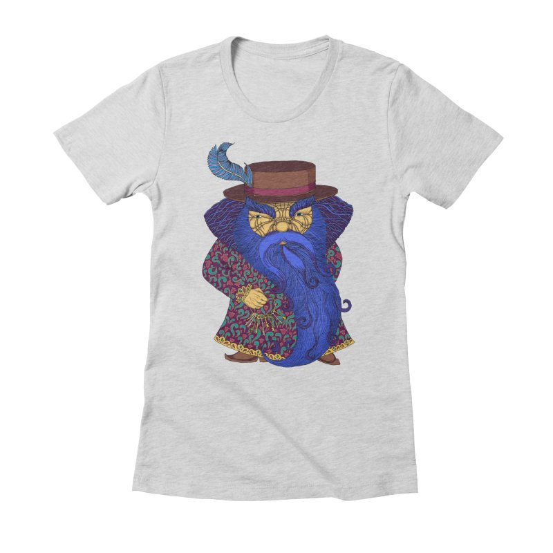 Blue beard Women's Fitted T-Shirt by ShadoBado Artist Shop