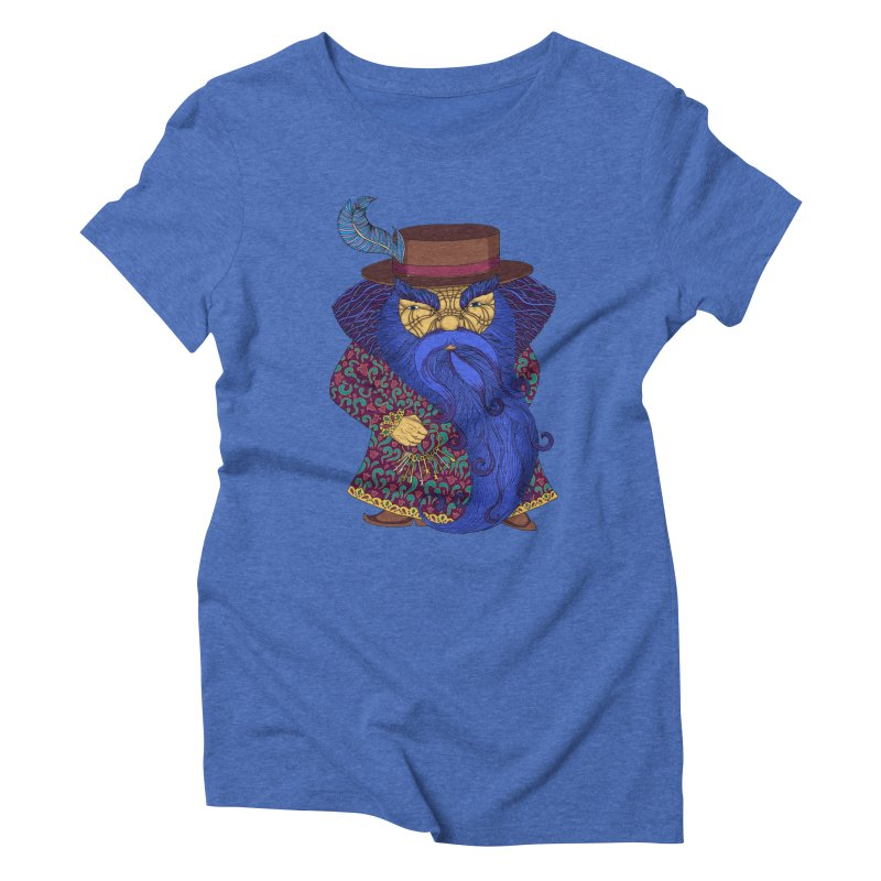 Blue beard Women's Triblend T-Shirt by ShadoBado Artist Shop
