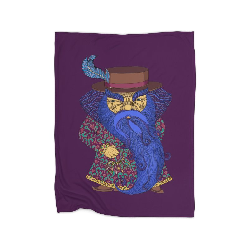 Blue beard Home Fleece Blanket Blanket by ShadoBado Artist Shop