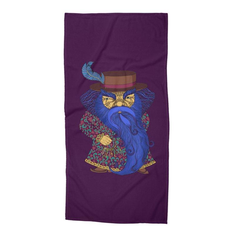 Blue beard Accessories Beach Towel by ShadoBado Artist Shop
