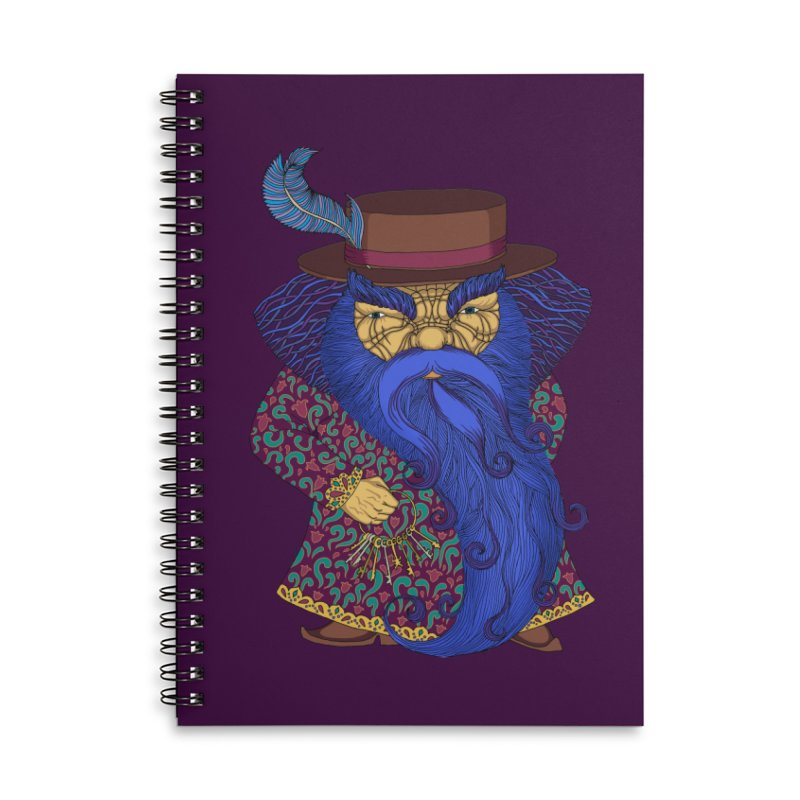 Blue beard Accessories Lined Spiral Notebook by ShadoBado Artist Shop