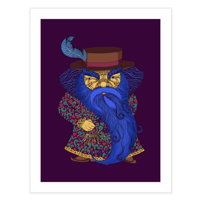 Blue beard Home Fine Art Print by ShadoBado Artist Shop