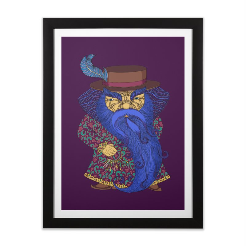 Blue beard Home Framed Fine Art Print by ShadoBado Artist Shop
