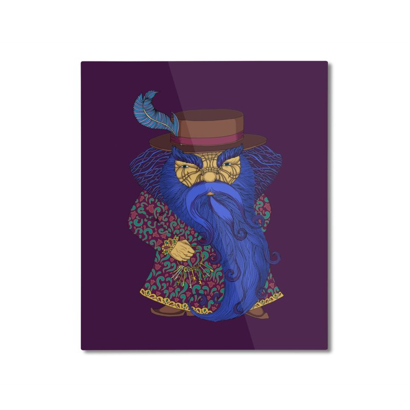 Blue beard Home Mounted Aluminum Print by ShadoBado Artist Shop