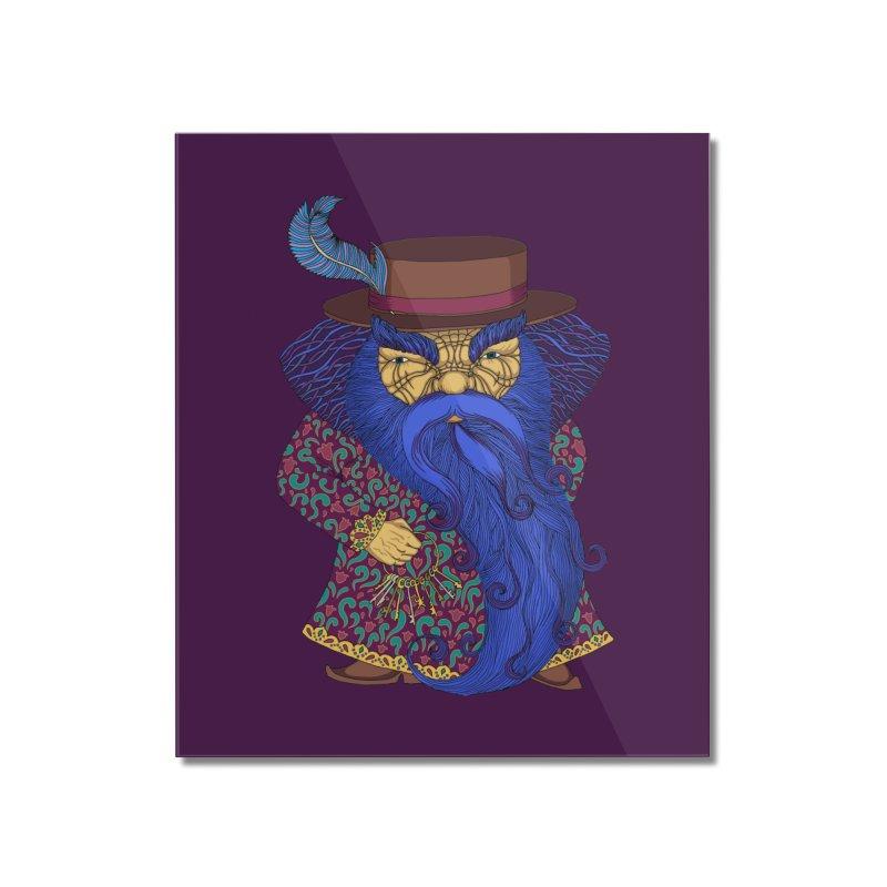 Blue beard Home Mounted Acrylic Print by ShadoBado Artist Shop