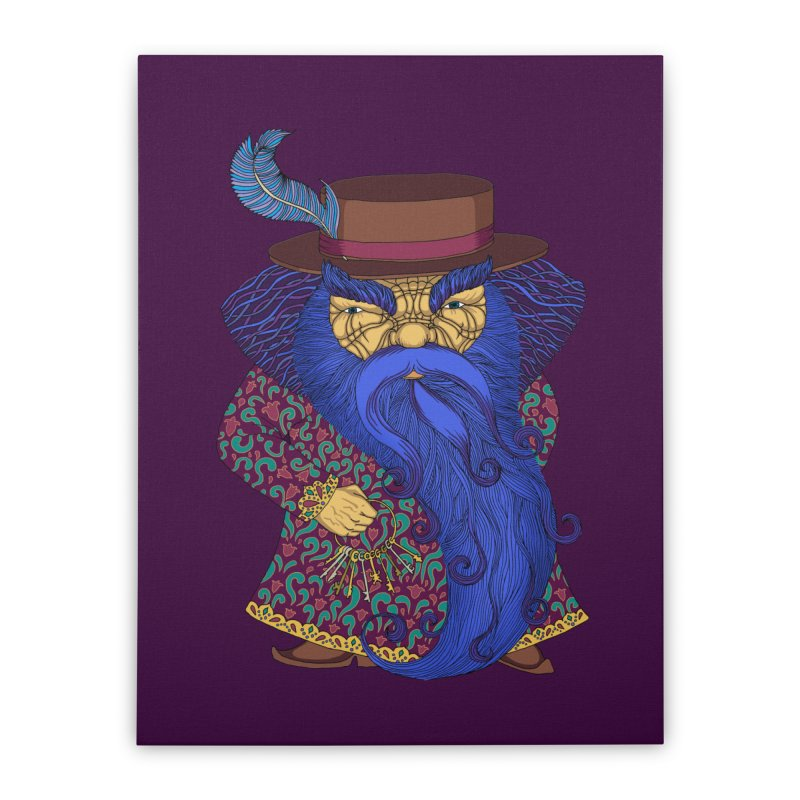 Blue beard Home Stretched Canvas by ShadoBado Artist Shop