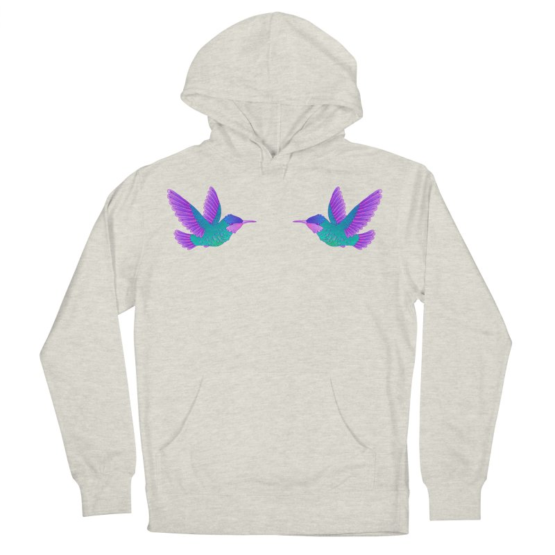 Hummingbirds Women's French Terry Pullover Hoody by ShadoBado Artist Shop