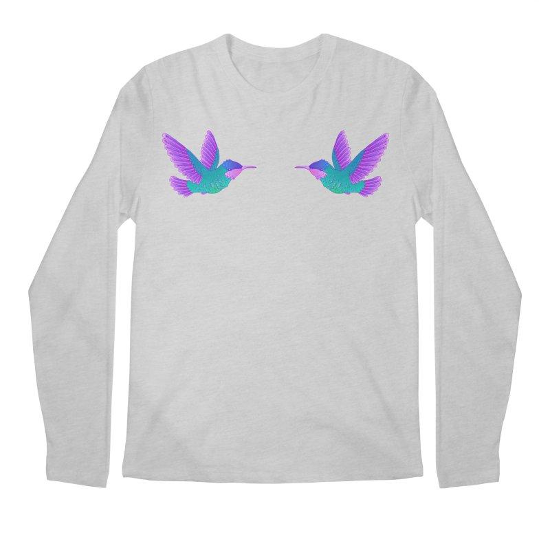 Hummingbirds Men's Regular Longsleeve T-Shirt by ShadoBado Artist Shop