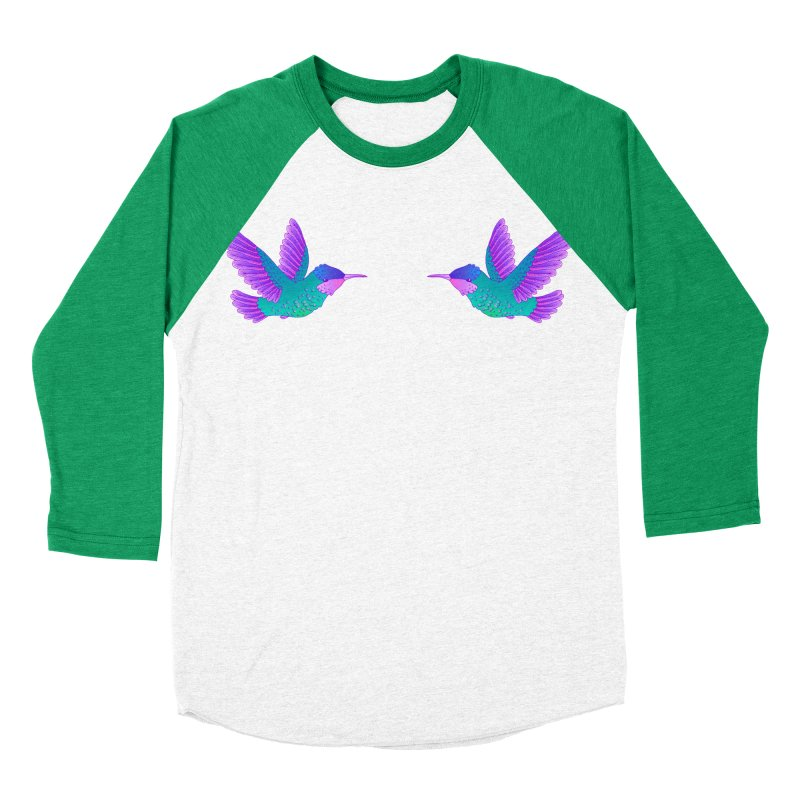 Hummingbirds Women's Baseball Triblend Longsleeve T-Shirt by ShadoBado Artist Shop
