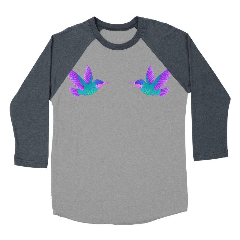 Hummingbirds Men's Baseball Triblend Longsleeve T-Shirt by ShadoBado Artist Shop