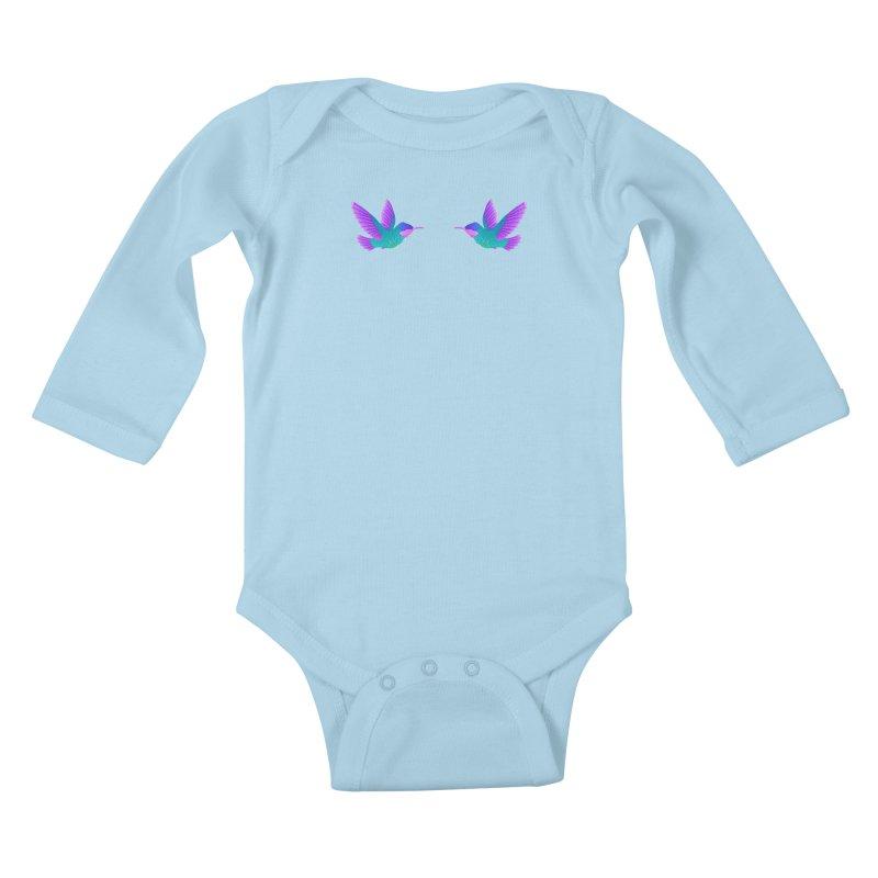 Hummingbirds Kids Baby Longsleeve Bodysuit by ShadoBado Artist Shop