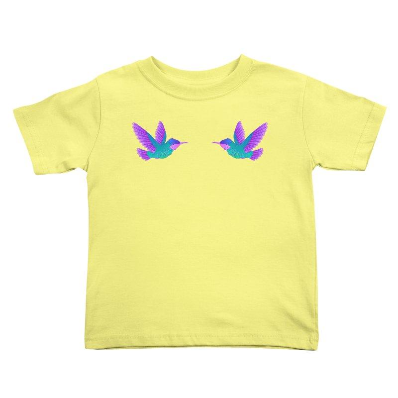 Hummingbirds Kids Toddler T-Shirt by ShadoBado Artist Shop