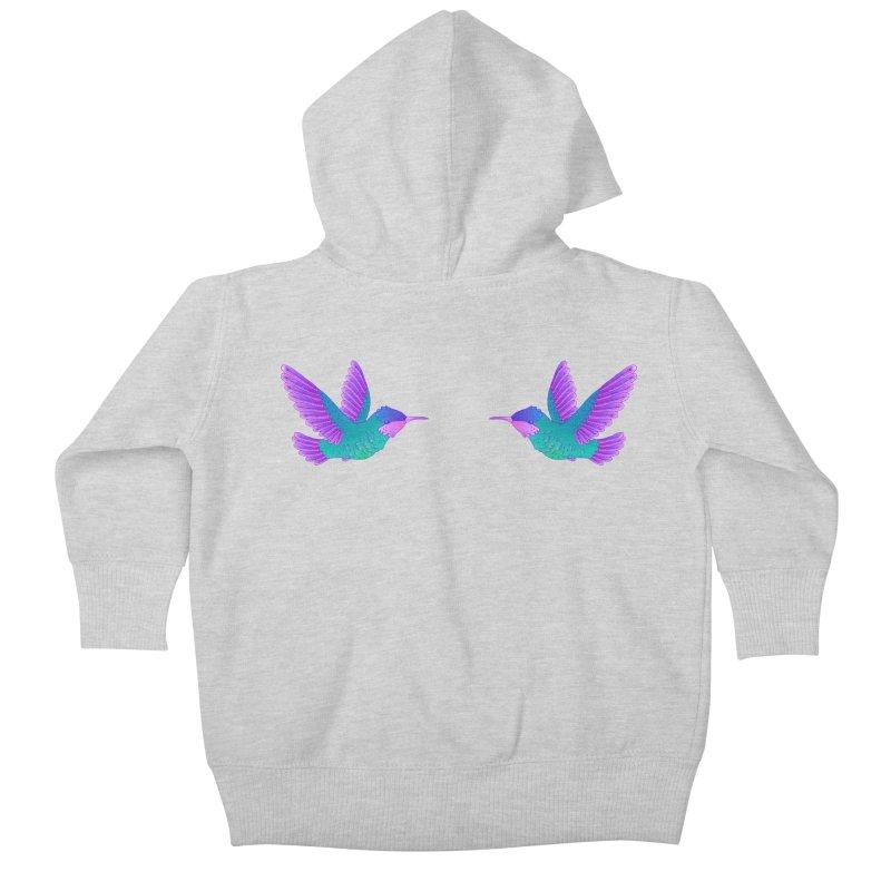 Hummingbirds Kids Baby Zip-Up Hoody by ShadoBado Artist Shop