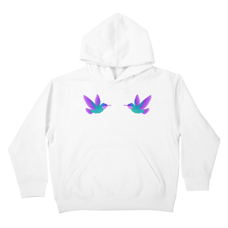 Hummingbirds Kids Pullover Hoody by ShadoBado Artist Shop