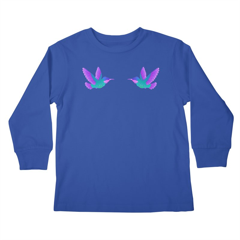 Hummingbirds Kids Longsleeve T-Shirt by ShadoBado Artist Shop