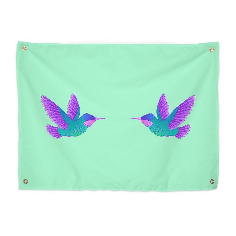Hummingbirds Home Tapestry by ShadoBado Artist Shop