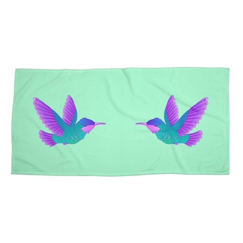 Hummingbirds Accessories Beach Towel by ShadoBado Artist Shop