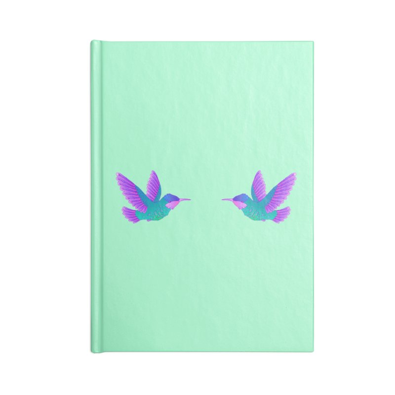 Hummingbirds Accessories Lined Journal Notebook by ShadoBado Artist Shop