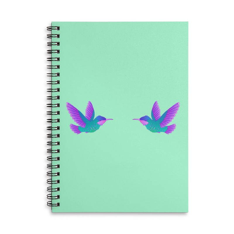 Hummingbirds Accessories Lined Spiral Notebook by ShadoBado Artist Shop