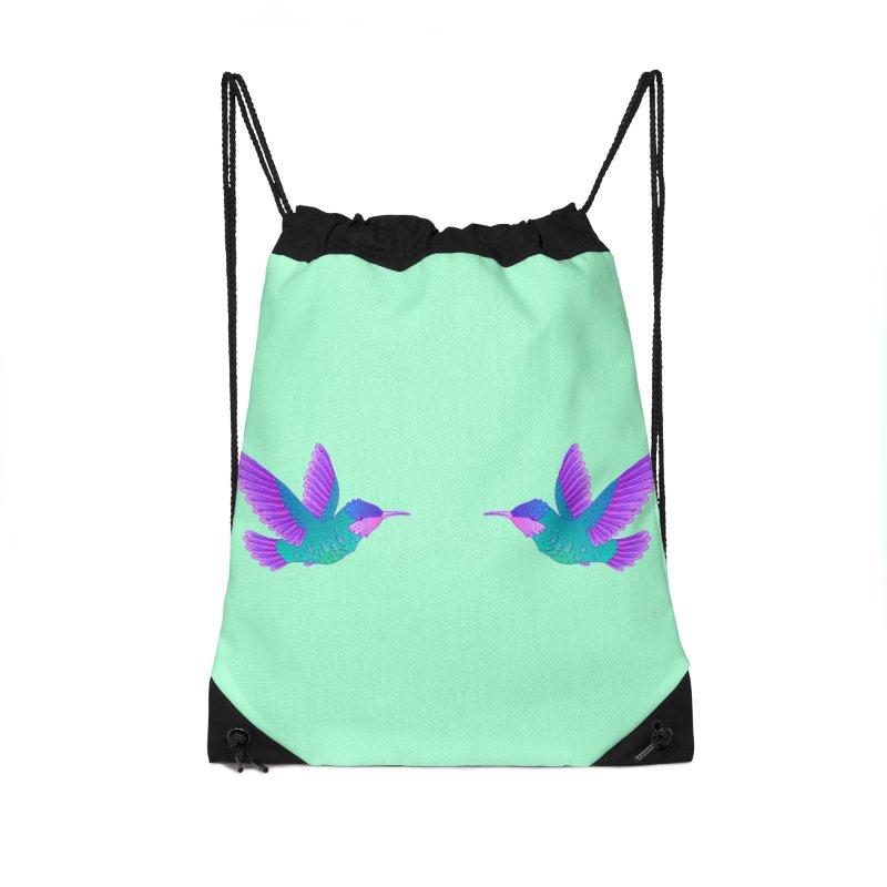 Hummingbirds Accessories Drawstring Bag Bag by ShadoBado Artist Shop