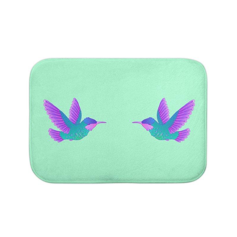 Hummingbirds Home Bath Mat by ShadoBado Artist Shop