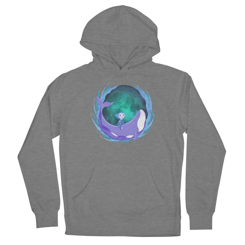 Riding the whale Women's Pullover Hoody by ShadoBado Artist Shop