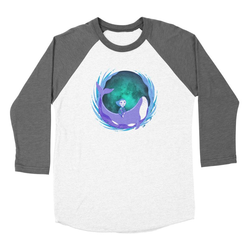 Riding the whale Women's Longsleeve T-Shirt by ShadoBado Artist Shop